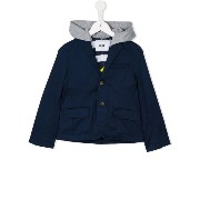 Msgm Kids hooded buttoned jacket