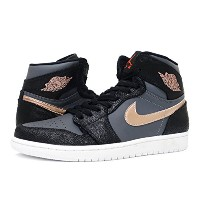 [ナイキ] NIKE AIR JORDAN 1 RETRO HI BLACK/METALLIC RED BRONZE/GREY [並行輸入品]