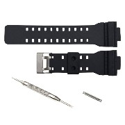 16mm Watch Band Strap fit Casio G Shock Gショック GA-100 GA-300 GD-100 GA-120 GA100B GA110 [並行輸入品]