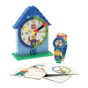Lego Time Teacher Boy's Quartz Watch with White Dial Analogue Display and Blue Plastic or PU Strap...