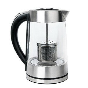SMAL WK-0815T Tea Maker and Electric Kettle with Tea Filter Lid, 1.7-Liter [並行輸入品]