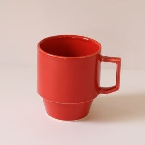 【HASAMI】BLOCK MUG BIG 波佐見焼き (RED)
