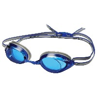 [並行輸入品]Speedo Vanquisher 2.0 Swim Goggle,White/Navy