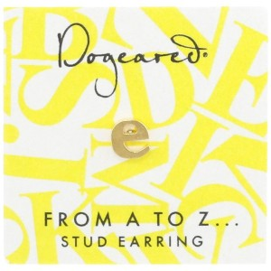 [ドギャード] DOGEARED from a to z earring, GD, little E V3GGZ00210404