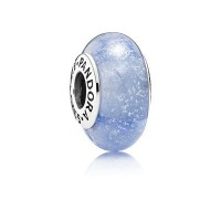 [パンドラ] PANDORA Disney Cinderella Silver Charm with Blue Fluorescent Murano Glassレディース ムラーノ ペンダント チャーム Ladies...