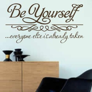 Be yourself ブラウン 壁ステッカー ウォールシール