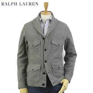 POLO Ralph Lauren Men's Flannel Fleece Shwal-Collar Sportsman Jacket USラルフローレン ショールカラー クルーザー ジャケット...