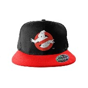 Ghostbusters ベースボールキャップ Snapback Cap Logo Embroidered 公式 ブラック
