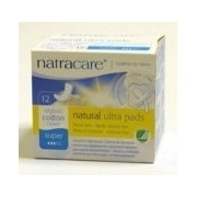 Natracare Ultra Super Pads With Wings 12 Count
