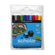 Prismacolor プリズマカラー アートマーカー 20色 ブレット Prismacolor Scholar Art Markers, Bullet Tip, Assorted Colors,...