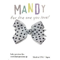 MANDY Baby Bows White with Black Dot