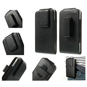 DFV mobile - Magnetic leather holster case belt clip rotary 360? for => BLACKBERRY KEYONE (2017) >...