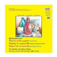 "Strathmore Watercolor Paper Pad 11""X15""-140lb Cold Press 12 Sheets (並行輸入品)"