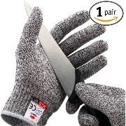 NoCry Cut Resistant Gloves - High Performance Level 5 Protection, Food Grade. Size Medium, Free...