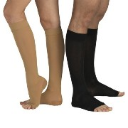 [cpa][c:0][b:10][s:0.20]23-32 mmHg MEDICAL COMPRESSION SOCKS with Open Toe, FIRM Grade Class II, Knee High Support...