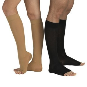 23-32 mmHg MEDICAL COMPRESSION SOCKS with Open Toe, FIRM Grade Class II, Knee High Support...