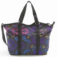 LeSportsac レスポートサック トートバッグ 9811 SMALL CARRY ALL D705 Midnight Flower Patch [並行輸入商品]