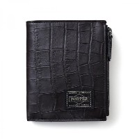 (ヘッド・ポーター) HEAD PORTER | CROCO | ZIP WALLET BLACK