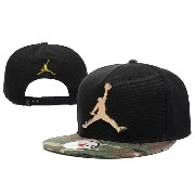 Air jordan ユニセックスブラックJumpman Air Jordan Cap.Metal Logo with Camouflage brim