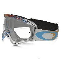 Oakley XS O-Frame MX Moto Monster Goggles (White Frame/Clear Lens) [並行輸入品]