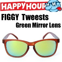 HAPPY HOUR HAPPY HOUR サングラス FIGGY Tweests Green Mirror Lens HAPPY HOUR SHADES トイサングラス