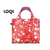 LOQI/ローキー エコバッグ SEED 【Coral Bell 】 【LOQI Eco Bag】収納ポーチ付き。ドイツ ナイロン 軽量 トート マザーズバッグ エコバック バック...