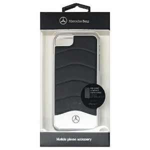 MERCEDES WAVE III Genuine Leather + Brushed Aluminium Hard Case - Black MEHCP7CUSBK
