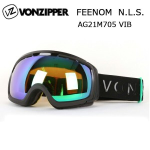 即日発送 2017 VONZIPPER ボンジッパー ゴーグル FEENOM-N.L.S. VIB VIBRATIONS-BLACK GLOSS SATIN × QUASAR CHROME...