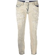 Faith Connexion beaded embroidery cropped jeans
