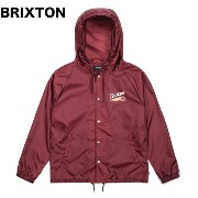 Brixton Maverick Windbreaker Jacket Burgundy M