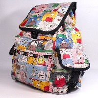 LeSportsac レスポートサック SNOOPY スヌーピー Peanuts x LeSportsac コラボ VOYAGER BACKPACK バックパック リュック 7839 P687 限定...