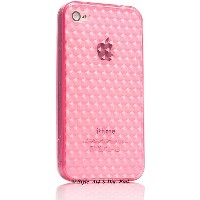 Ai-Style iPhone4 TPUケース ダイヤパターン ピンク【Ai4-S-dai-Pink】