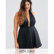 水着 ASOS CURVE Plunge Swim Dress ASOS(エイソス) バイマ BUYMA