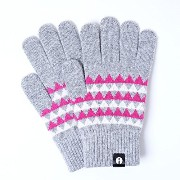 iTouch Gloves アイタッチグローブ Patterns タッチパネル対応 手袋 Grey iTG-015-GY/Ssize