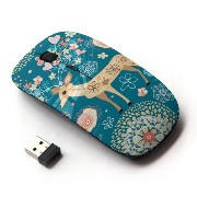 KOOLmouse [ ワイヤレスマウス 2.4Ghz 無線光学式マウス ] [ Winter Deer Floral Deco Fairytale ]