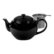 Le Creuset Stoneware Large Teapot with Stainless Steel Infuser - Black [並行輸入品]