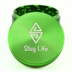 Slug Life Herb Grinder 4 Parts 2.5 Inch with Pollen Catcher (Green)