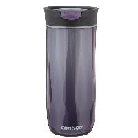 Contigo SnapSeal Double-Wall Plastic Travel Mug, 16-Ounce, Violet 水筒 タンブラー パープル 480ml