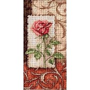 """Gold Petites Single Rose Counted Cross Stitch Kit-4""""X8"""" 16 Count (並行輸入品)"""