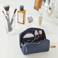 ithinkso BELL MAKE-UP POUCH コンパクトサイズ 化粧ポーチ (ネイビー)