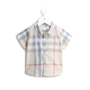 Burberry Kids - House Check シャツ - kids - コットン - 12カ月