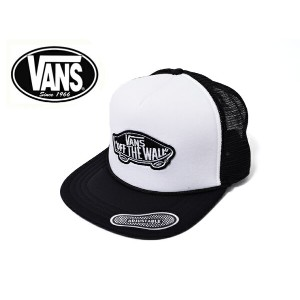 【即納可能】VANS APPAREL 定番バンズ【VN-0H2VYB2】CLASSIC PATCH TRUCKERWhite/Blackキャップ・帽子・ハット