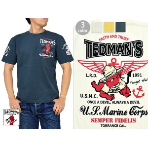 U.S.MARINE CORPS半袖Tシャツ TEDMAN テッドマン TDSS-460【smtb-k】【kb】10P03Dec16【RCP】[new]