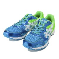 キッズ 【ASICS】 アシックス 225-25LAZERBEAM RB TKB207 4185 17SP 4185 S.BLUE/GRN