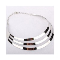 Choker Silver Chain Collar Statement Necklace