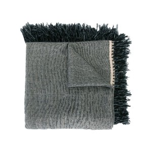 Isabel Marant - fringed trim knitted scarf - women - カシミア/ウール - ワンサイズ