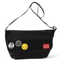 Emblems Bag -Emblem of SMILEY FACE- Vintage Messenger Bag L【マンハッタンポーテージ/Manhattan Portage レディス, メンズ...