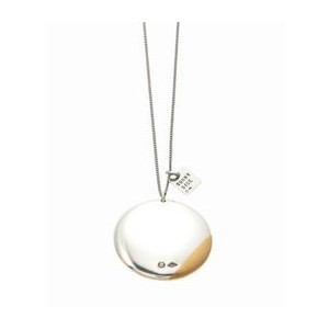 ON THE SUNNYSIDE OF THE STREET Silver+ 18KGP Button Necklace【エディフィス/EDIFICE ネックレス】