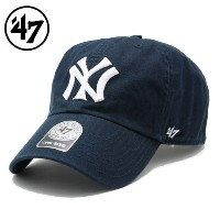 47 Brand フォーティーセブンブランド CLEAN UPキャップ YANKEES COOPERSTOWN 47 CLEAN UP NAVY