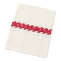 【LABOUR AND WAIT】LINEN TEA TOWELwith L&W Logo【ビショップ/Bshop レディス, メンズ 食器・キッチングッズ RED ルミネ LUMINE】